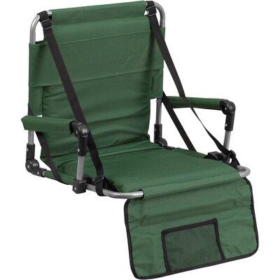 Flash Furniture Folding Stadium Chair - Color: Green