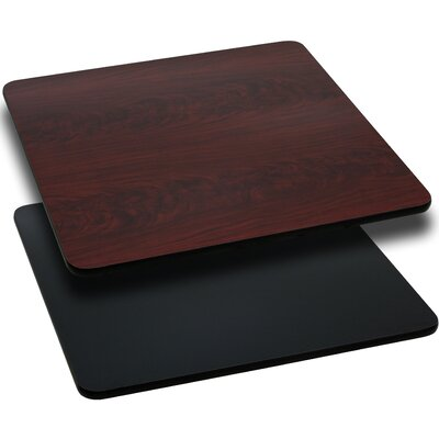 Square Reversible Laminate Table Top (Set of 2) Size: 24 Square, Finish: Black or Mahogany, Quantity: Set of 15