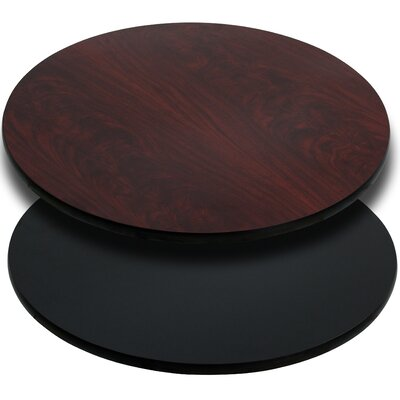 Round Reversible Laminate Table Top Size: 24 Round, Quantity: Set of 10, Color: Black or Mahogany