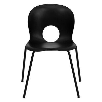 Hercules Series Stacking Side Chair Finish: Black, Quantity: Set of 10