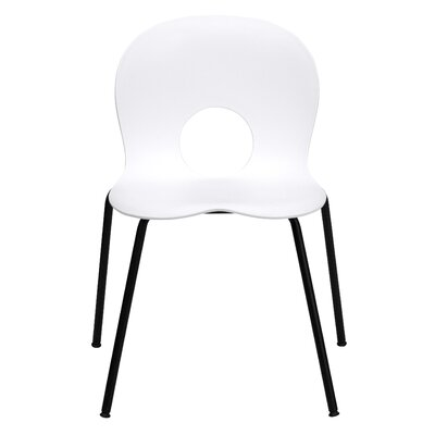 Hercules Series Stacking Side Chair Quantity: Set of 16, Finish: White