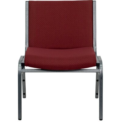 Dillman Big and Tall Extra Wide Stack Chair Seat Finish: Burgundy, Quantity: Set of 10