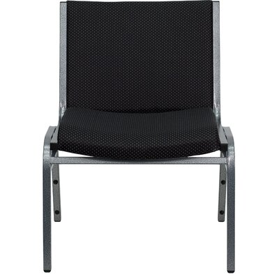 Dillman Big and Tall Extra Wide Stack Chair Seat Finish: Black, Quantity: Set of 10