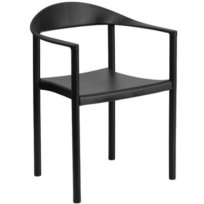 Hercules Series Cafe Stack Arm Chair Finish: Black