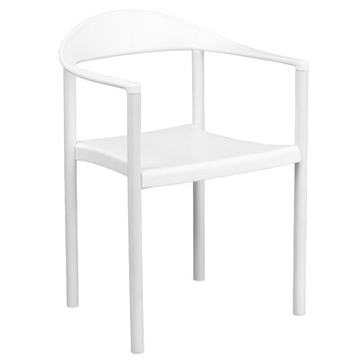 Hercules Series Cafe Stack Arm Chair Finish: White