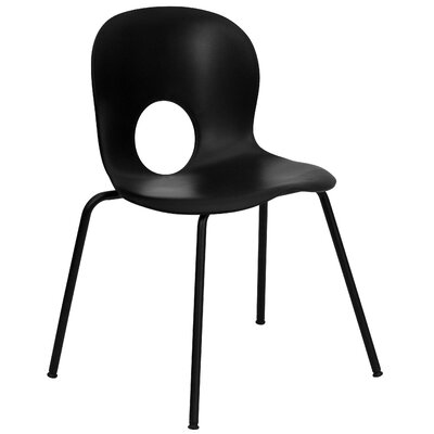 Hercules Series Armless Stacking Chair Seat Finish: Black