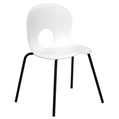 Hercules Series Armless Stacking Chair Seat Finish: White