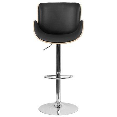 Adjustable Height Swivel Bar Stool Upholstery: Beech
