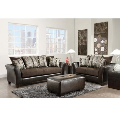 Dilorenzo 2 Piece Solid Wood Living Room Set