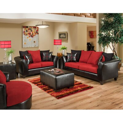 Riverstone Victory Lane Cardinal Living Room Set