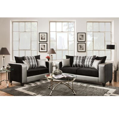 Dilorenzo Modern 2 Piece Living Room Set