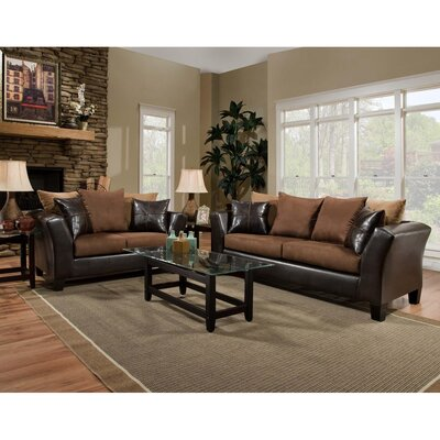 Dilorenzo 2 Piece Wood Frame Living Room Set