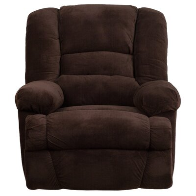 Saumya Manual Rocker Recliner Upholstery: Chocolate