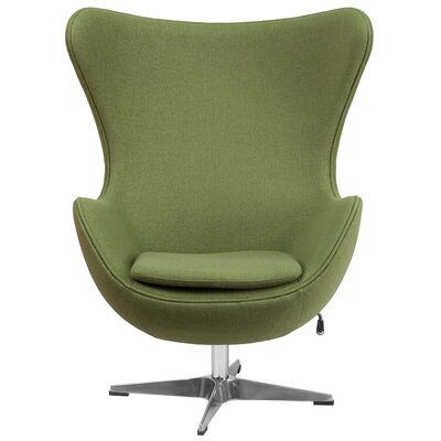 Fernanda Swivel Wingback Chair Upholstery: Grass Green