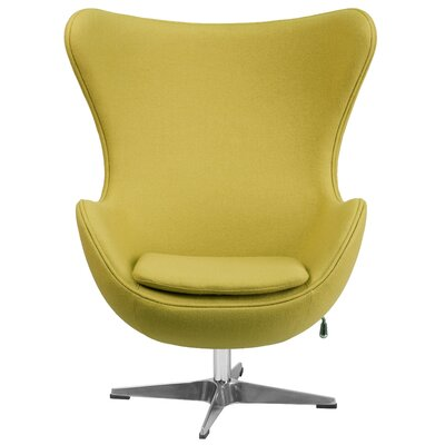 Egg Lounge Chair Upholstery: Citron