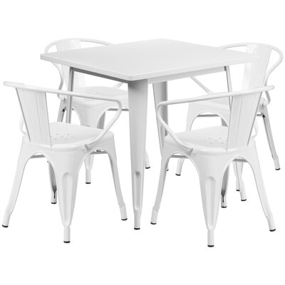 Markeshia 5 Piece Dining Set Finish: White