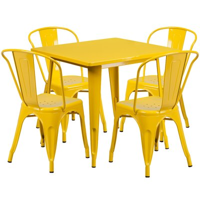Betsey 5 Piece Dining Set Finish: Yellow