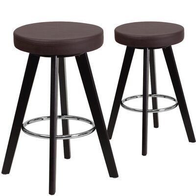 Salerno  24.25 Bar Stool Upholstery: Brown