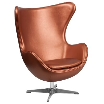Leather Egg Lounge Chair Color: Copper