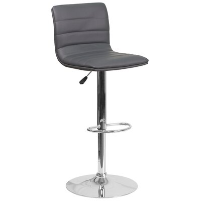 Nolasco Adjustable Height Swivel Bar Stool