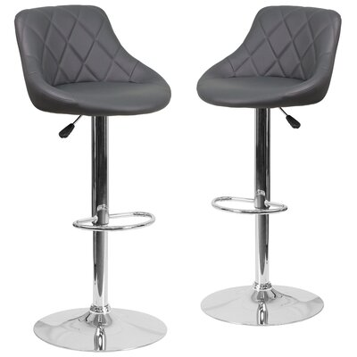 Nivens Adjustable Height Swivel Bar Stool