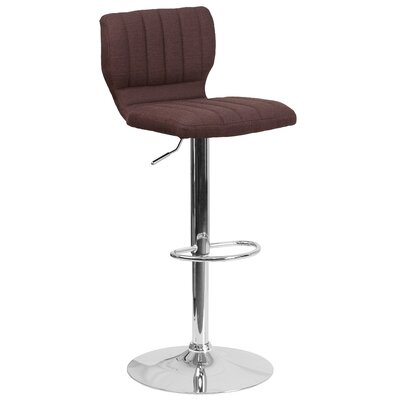 Adjustable Height Swivel Bar Stool Color: Brown