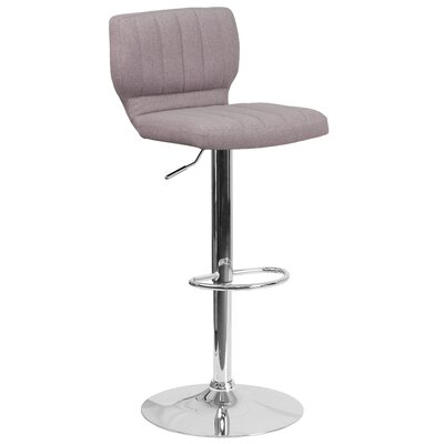 Adjustable Height Swivel Bar Stool Color: Gray