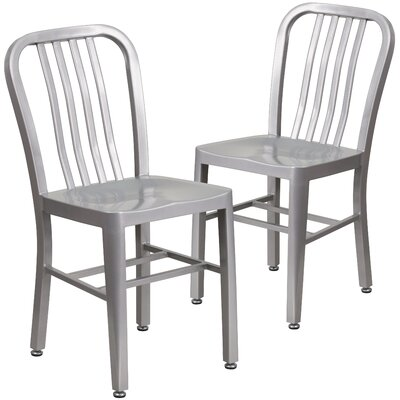 Belville Metal Side Chair Finish: Silver
