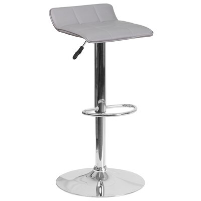 Noriega Adjustable Height Swivel Bar Stool Upholstery: Gray