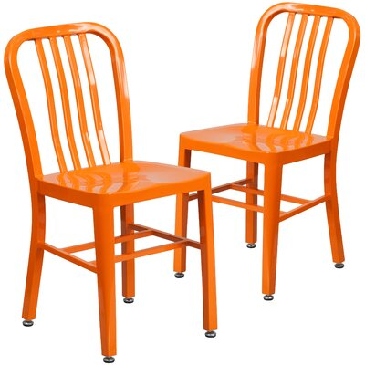 Belville Metal Side Chair Finish: Orange
