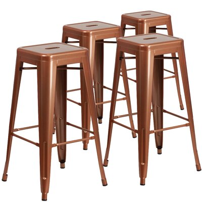Hacker 30 Bar Stool Finish: Copper