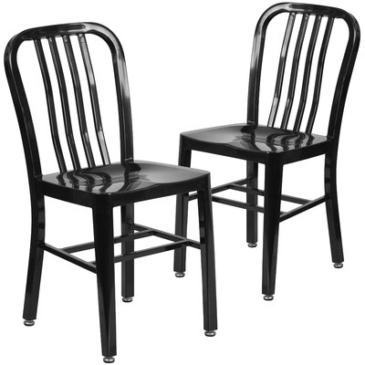 Belville Metal Side Chair Finish: Black