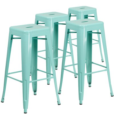 30 Bar Stool Finish: Mint Green