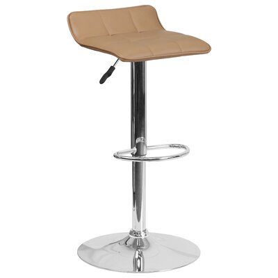 Noriega Adjustable Height Swivel Bar Stool Upholstery: Cappuccino