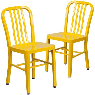Belville Metal Side Chair Finish: Yellow