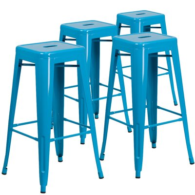 Hacker 30 Bar Stool Finish: Crystal Blue