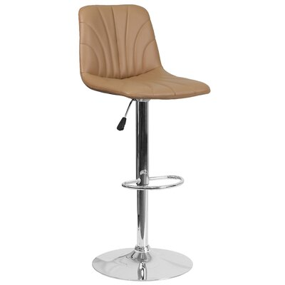 Norfleet Adjustable Height Swivel Bar Stool Upholstery: Cappuccino