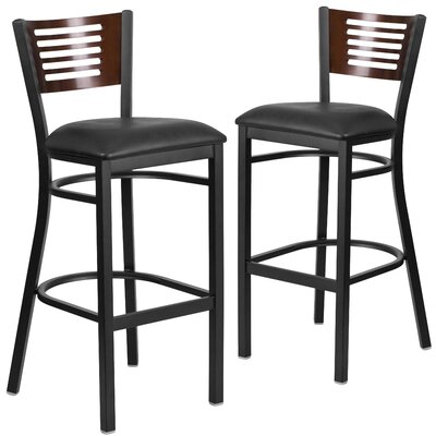 Mat 32 Bar Stool Upholstery: Black