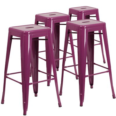 Hacker 30 Bar Stool Finish: Purple