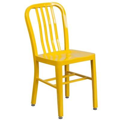 Side Chair Finish: Yellow
