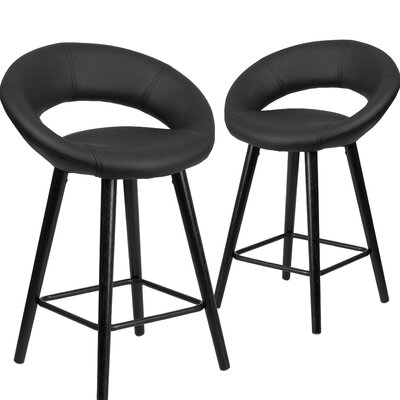 Dilworth 24 Bar Stool Upholstery: Black