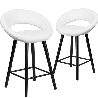 Dilworth 24 Bar Stool Upholstery: White