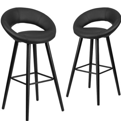 Dilworth 29 Bar stool Upholstery: Black
