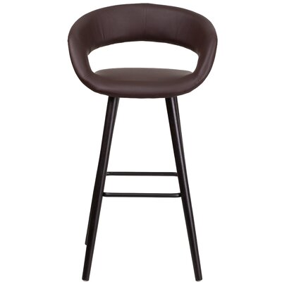 Palafox Contemporary 30 Bar Stool Upholstery: Brown
