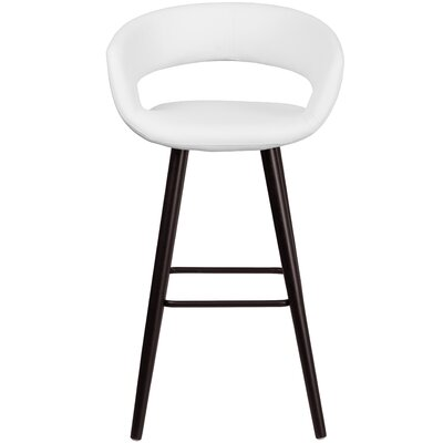 Brynn Series 30 Bar Stool Upholstery: White