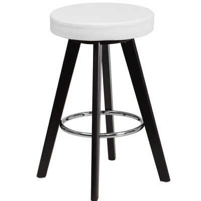Salerno 24 Bar Stool Upholstery: White