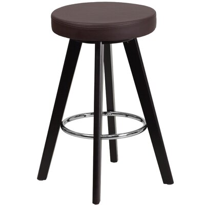 Salerno 24 Bar Stool Upholstery: Brown