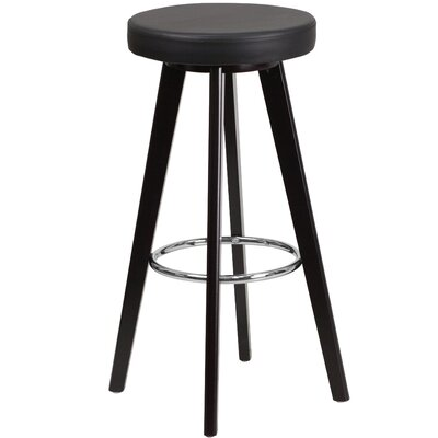 Salerno Contemporary 30 Bar Stool Upholstery: Black