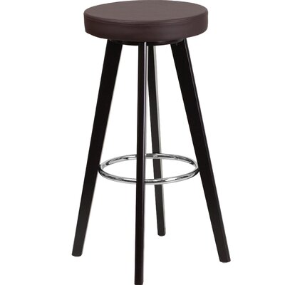 Salerno Contemporary 30 Bar Stool Upholstery: Brown