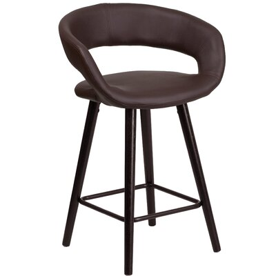 Palafox 24 Bar Stool Upholstery: Brown